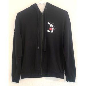 Disney Shirts & Tops - Disney Mickey Mouse Kid's black hoodie large 11/13